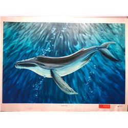 """Whale's Song"" by Dennis Matthewson, Signed, Ltd. Ed. 13 of 250, Canvas Giclee 36"" x 24"""