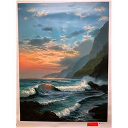 """Tropical Embrace"" by Rudy Gonzalez, Canvas Giclee 36"" x 27"" Retail $600"