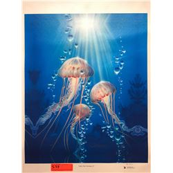 """Jelly Fish Fantasy II"" by Dennis Matthewson, Signed, Ltd. Ed. 10 of 25, Canvas Giclee 19"" x 23"""