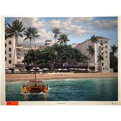 """Moana Beach Front"" by Rodel Gonzalez, Signed, Ltd. Ed. 16 of 350, Canvas Giclee 32"" x 24"""