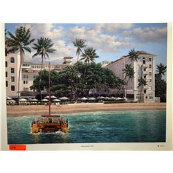 """Moana Beach Front"" by Rodel Gonzalez, Signed, Ltd. Ed. 22 of 350, Canvas Giclee 32"" x 24"""