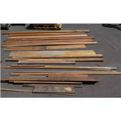 Large Lot of Unfinished Natural Hardwood (Mostly African Mahogany - Varying Lengths/Sizes)