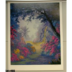 """Waterfall"" by Anthony Casay, Offset Lithograph, 25"" x 32"" (qty 5) Signed and Numbered, Retail $1000"