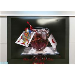 """Black Jack and Coke"" by Michael Godard, Paper, 30 x 24 (qty 5)"