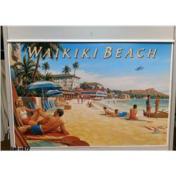 """""""Waikiki Beach"""" Nostalgia, Paper, 39-1/4"""" x 26-1/4"""" (qty 1)"""