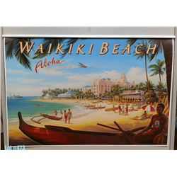 """Waikiki Beach Aloha Airways"" Nostalgia, Paper, 39-1/4"" x 26-1/4"" (qty 1)"