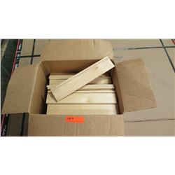 Box of Prefinished Maple Cabinet Drawer Materials