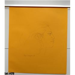 """Profile Sketch"" by Pegge Hopper, Paper, 19"" x 22"" (qty 5)"