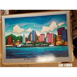 Qty 20  Honolulu Skyline  by Fred Peters, Paper, 26 x 36