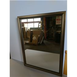 Bronze/Gold-Tone Framed Mirror 22.5 x 29.5 (frame has imperfections)
