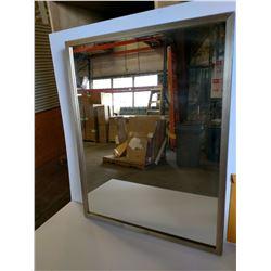 Silver-Tone Framed Mirror 29.5 x 37.5