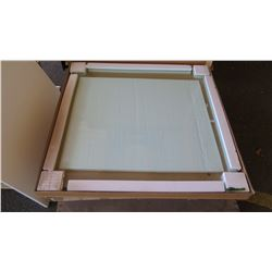 19mm Square Glass Tabletop 42 x 42