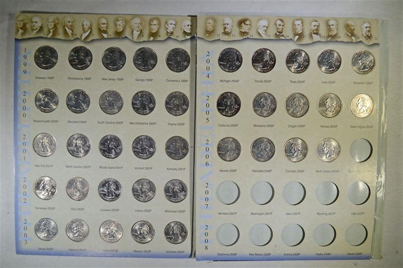50 STATE QUARTER COLLECTOR MAP & on