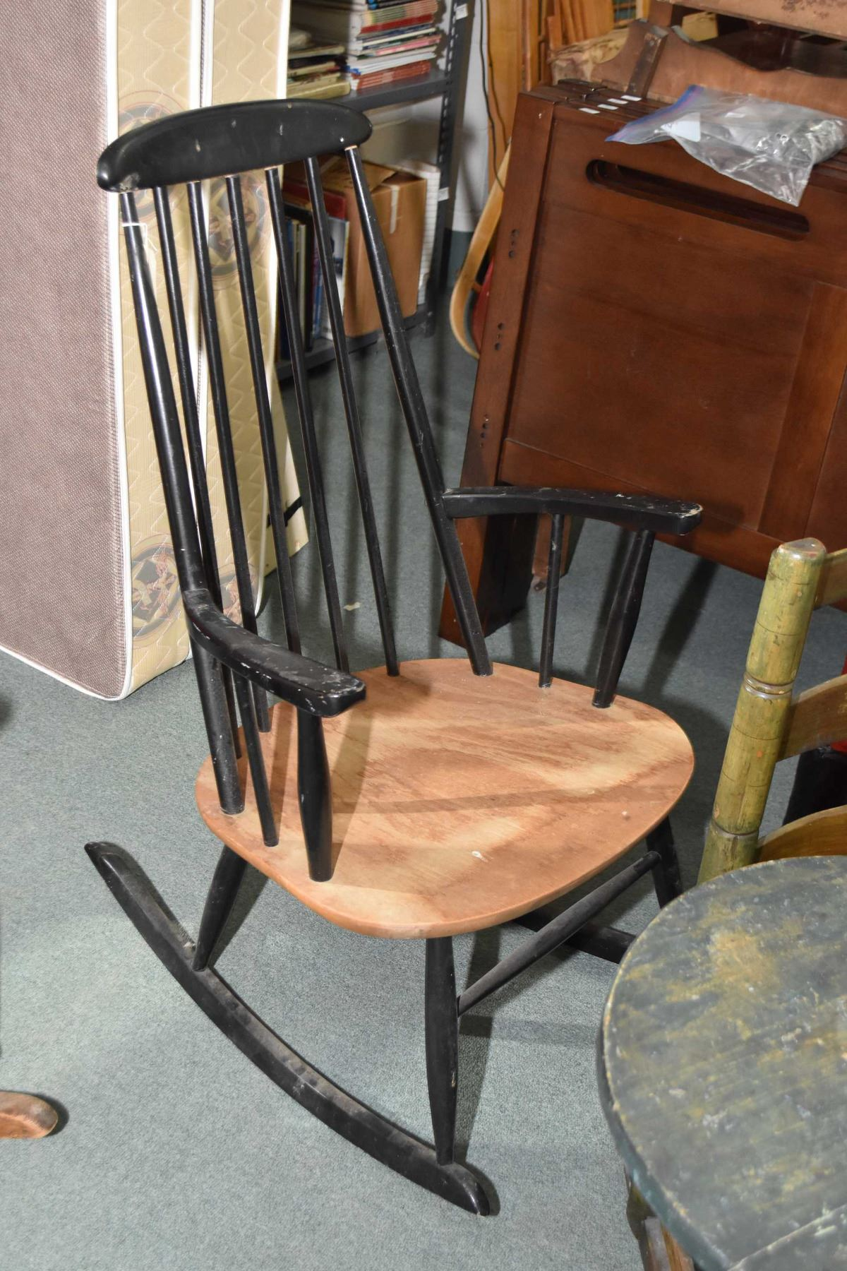 High Back Wooden Rocking Chair