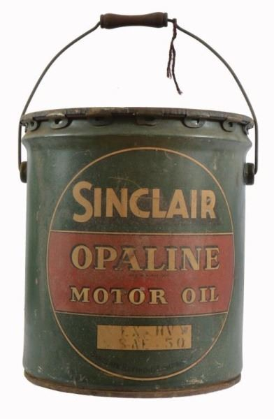 ... Image 2 : 2 Sinclair Opaline Motor Oil Cans ...