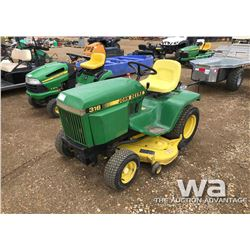 JOHN DEERE 316 RIDING LAWN MOWER