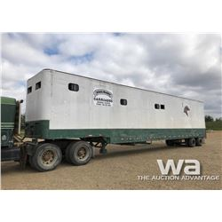1984 FRUEHAUF T/A 50 FT. HORSE TRAILER