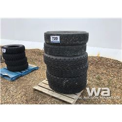 (4) MICHELIN 11R24.5 TRAILER TIRES