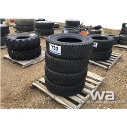 (4) GOODYEAR 265/70R17 WINTER TIRES