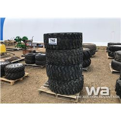 (4) WEARMASTER 15-19.5 TIRES & RIMS