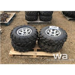 (2) ATV 26X10R12 TIRES & RIMS