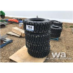 (4) 12X16.5 12PLY SKID STEER TIRES