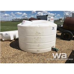 1000 GAL. POLY WATER TANK