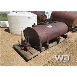 ANTIQUE STEEL TANK & PUMP