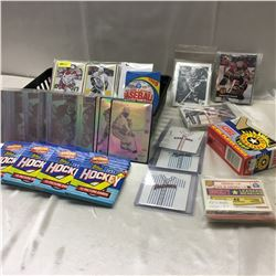1980's/90's Hockey & Baseball Cards - Variety Lot