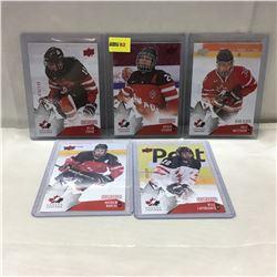 2015 Upper Deck (5 Cards) Canada Juniors