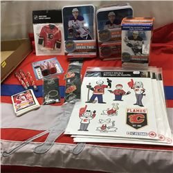 Calgary Flames Collectibles + Variety Hockey Cards