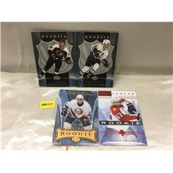 """Upper Deck """"Rookies"""" Limited Editions (4 Cards)"""