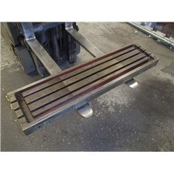 """Steel 3 Slot Milling Table, Overall: 48"""" x 12"""" x 4"""""""