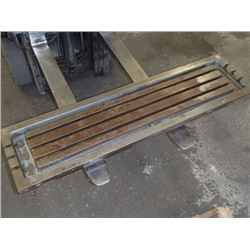 """Steel 3 Slot Milling Table, Overall: 51"""" x 13"""" x 4.75"""""""