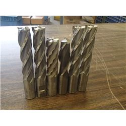 """Misc 1"""" HSS End Mills, 6 Total"""