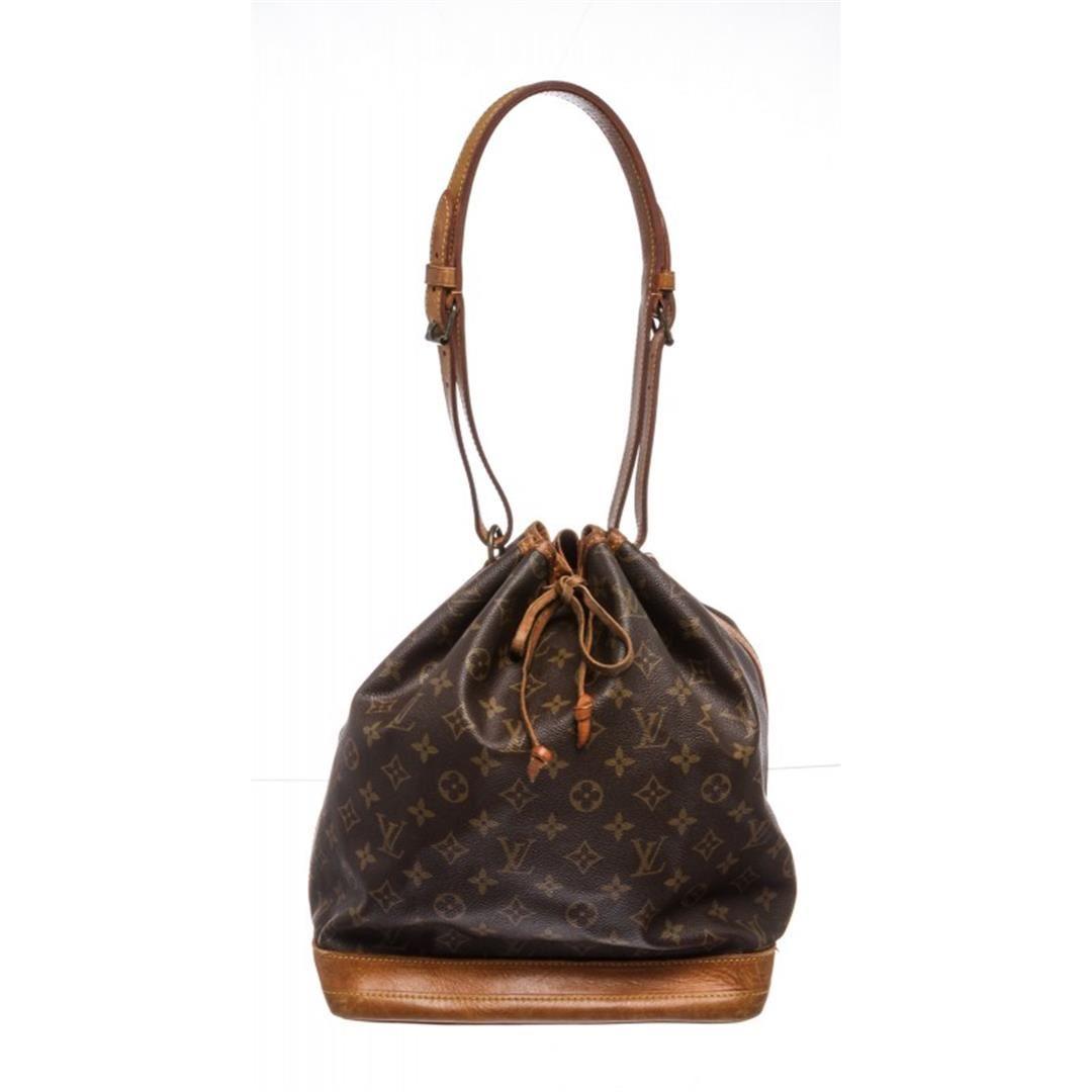 8106a1ea441c Image 1 : Louis Vuitton Monogram Canvas Leather Noe GM Drawstring Bag ...