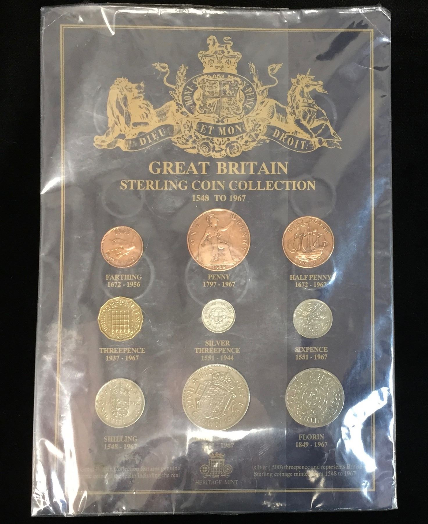 1548-1967 UK Great Britain Sterling Coin Collection