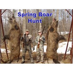 Wild Boar and Trout Package for Two Hunters