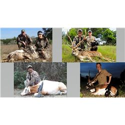 Hunt Package ­ Trophy Exotics Hunt in TX Sponsored by: L&L Adventures