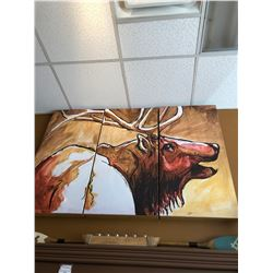 3 Panel Elk Art Sponsored by: Meissenburg