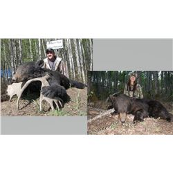 Hunt Package - Black Bear and Wolf hunt in Canada Sponsored by: Silver Fox Outfitters