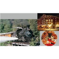 2 Round Trip Tickets to the Durango Narrow Gauge Railroad with a One Night Hotel and Dinner Sponsore