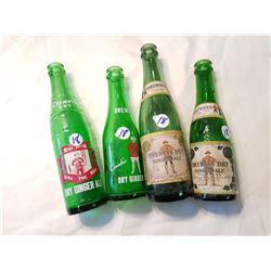 4 Different Drewrys RCMP Logo Bottles
