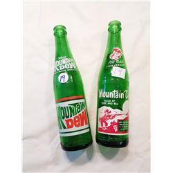 2 Mountain Dew Bottles
