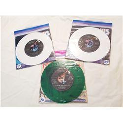 3 Rare Elvis Presley 45 Color Records Lot #2