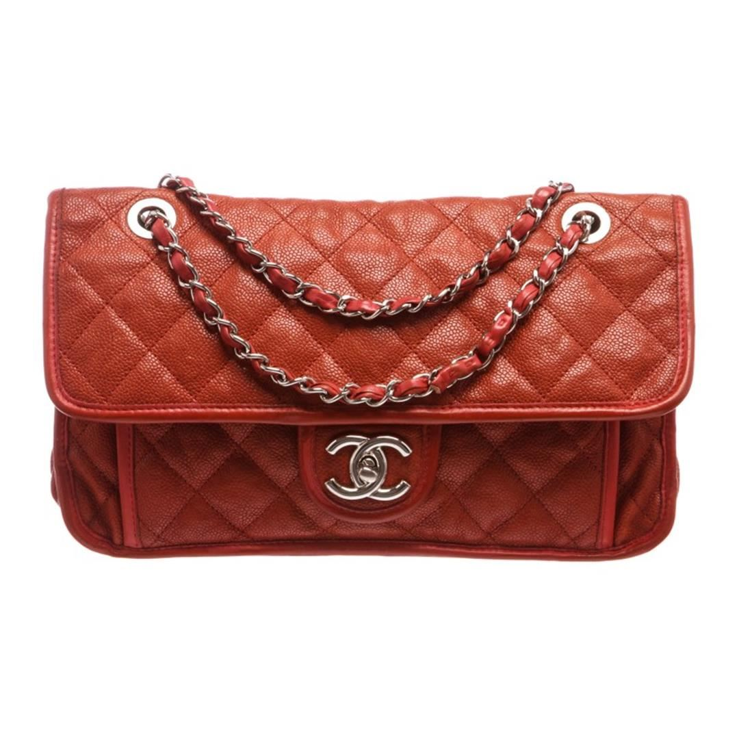 eff15fd2bc44 Image 1 : Chanel Brick Red Quilted Caviar Leather Medium French Riviera Flap  Bag ...