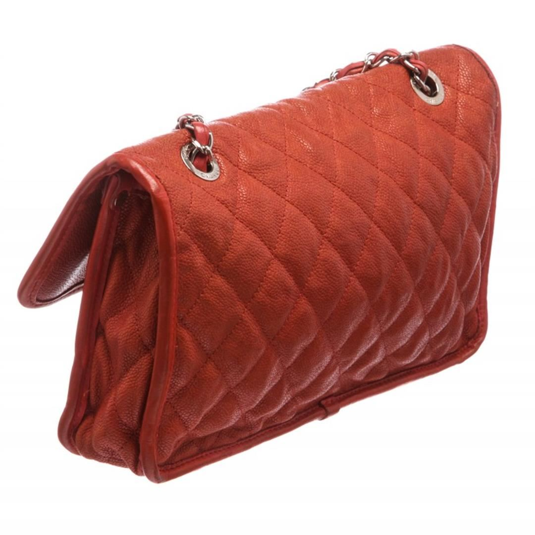 81bc1203a37c55 ... Image 4 : Chanel Brick Red Quilted Caviar Leather Medium French Riviera  Flap Bag ...