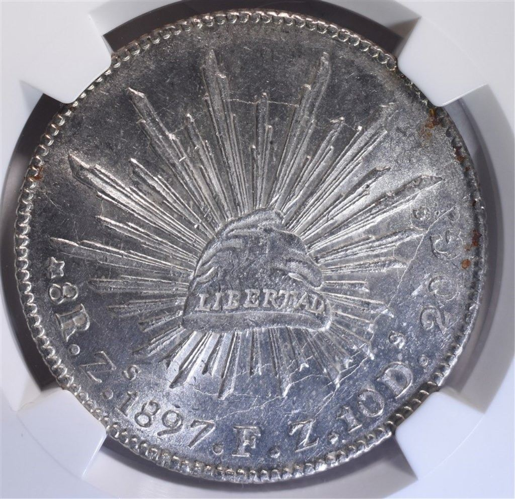 1897 ZS FZ MEXICO 8 REALES, NGC MS-61