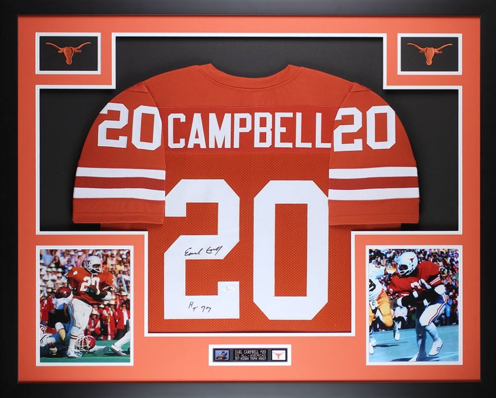 quality design 96ac1 572fd Earl Campbell Signed Texas Longhorns 35