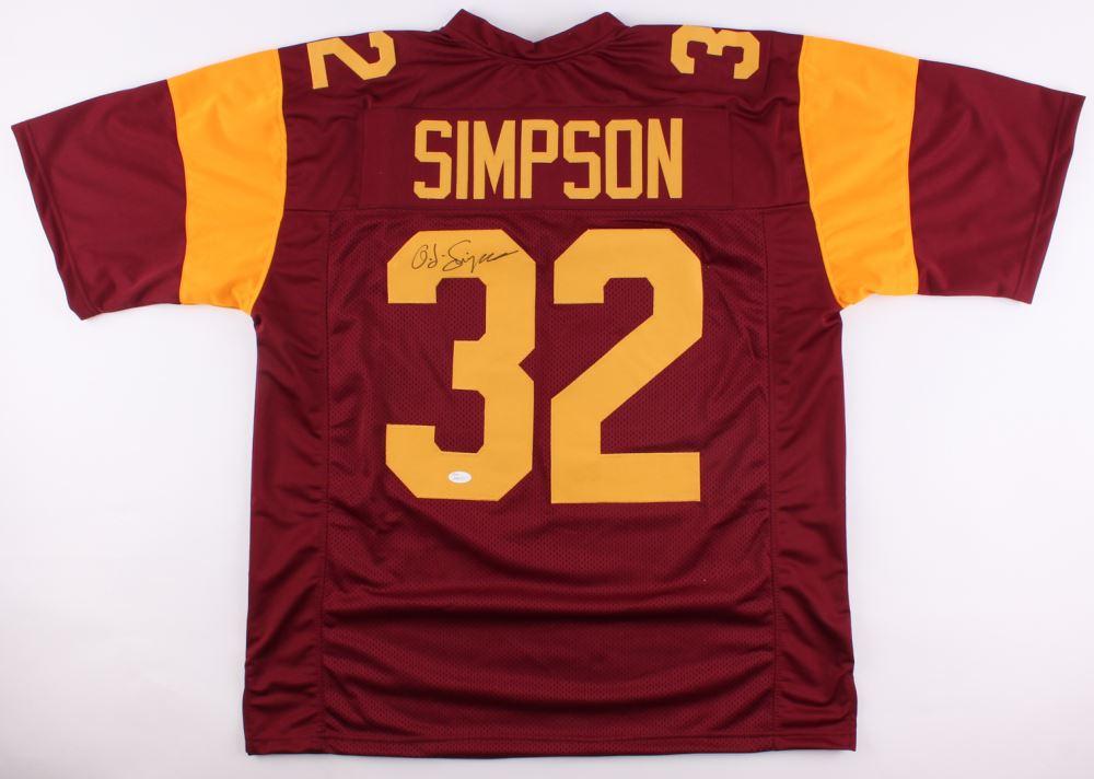 more photos 12df6 91bd6 O.J. Simpson Signed USC Trojans Jersey (JSA COA)